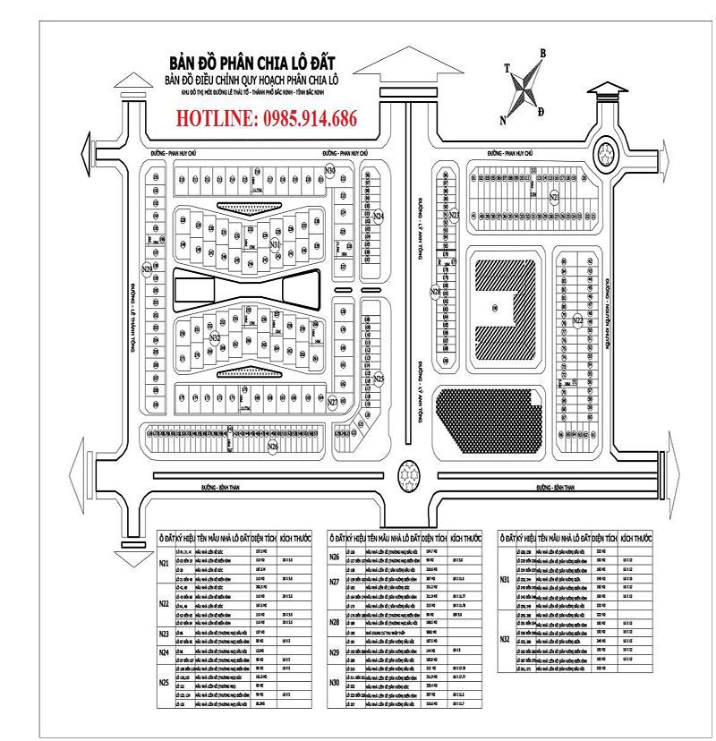 Bán biệt thự khu HUD B tp Bắc Ninh - Biệt thự Trầu Cau Garden 2