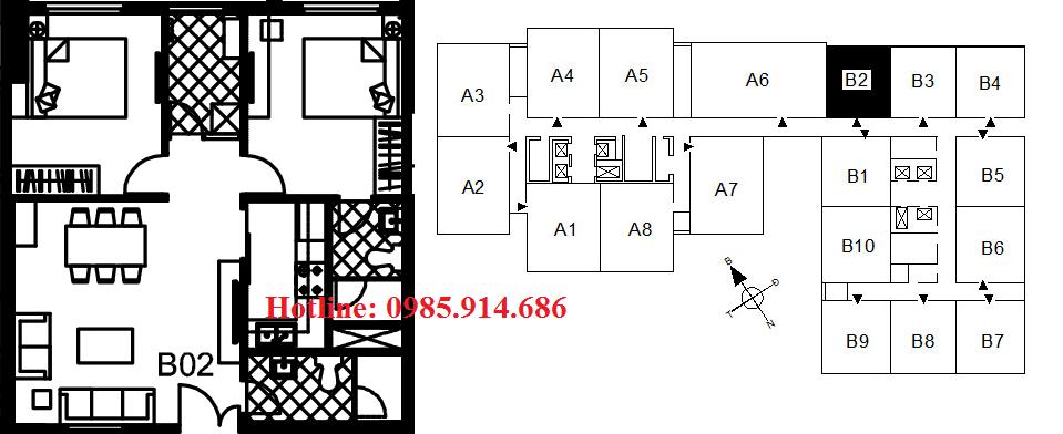 Bán suất ngoại giao căn hộ B2 chung cư 122 Vĩnh Tuy – Udic Riverside 1