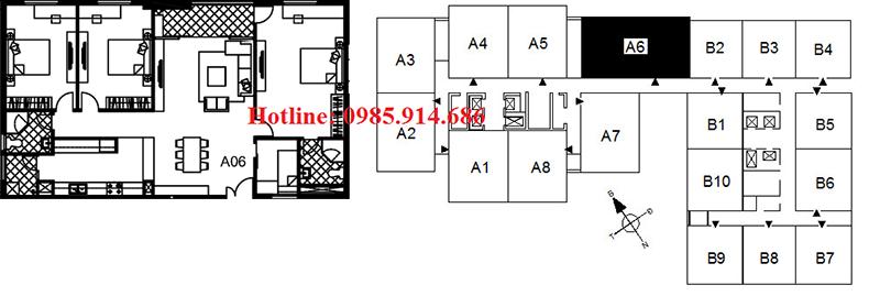 Căn 3 phòng ngủ diện tích lớn nhất chung cư 122 Vĩnh Tuy - Udic Riverside 2