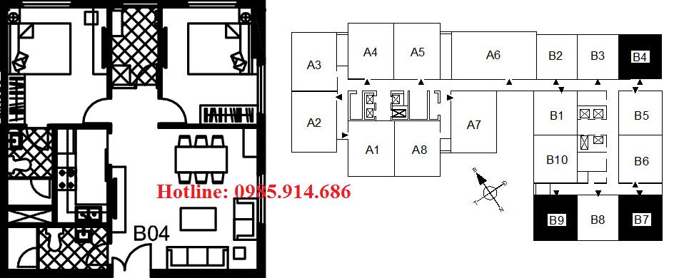 Bán suất ngoại giao căn B4 chung cư 122 Vĩnh Tuy – Udic Riverside 2