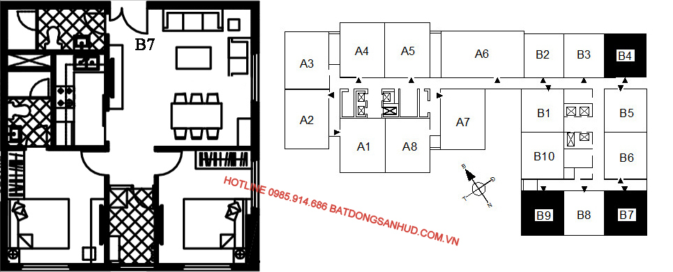 Bán suất ngoại giao căn hộ B7 chung cư 122 Vĩnh Tuy – Udic Riverside 3