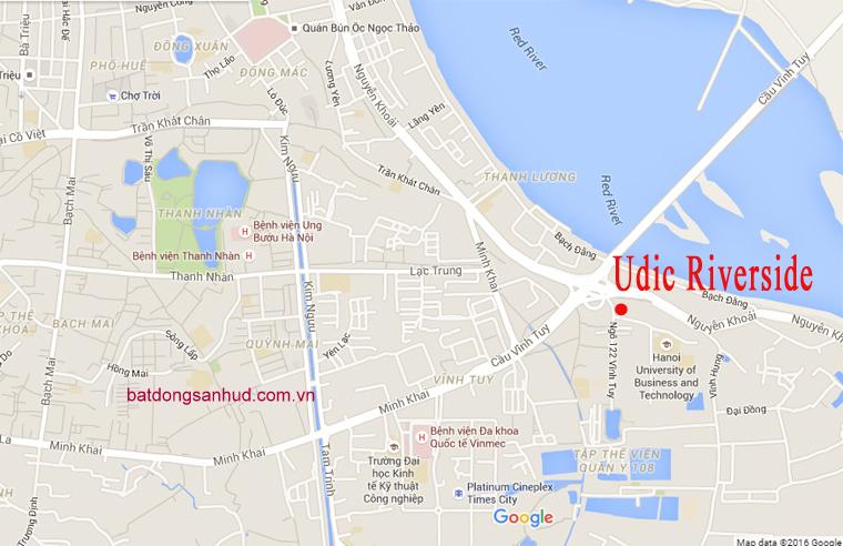 Căn 2 phòng ngủ hướng ban công Đông Nam chung cư 122 Vĩnh Tuy - Udic Riverside 1