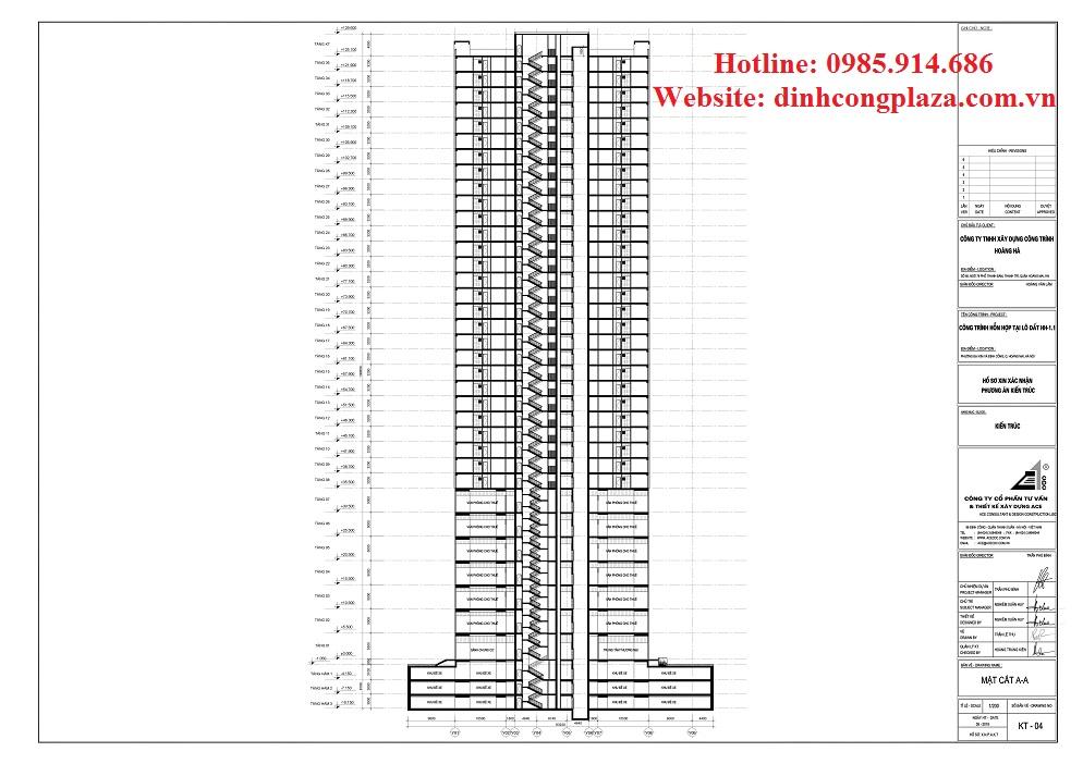 Dự án chung cư Đinh Công Plaza 5