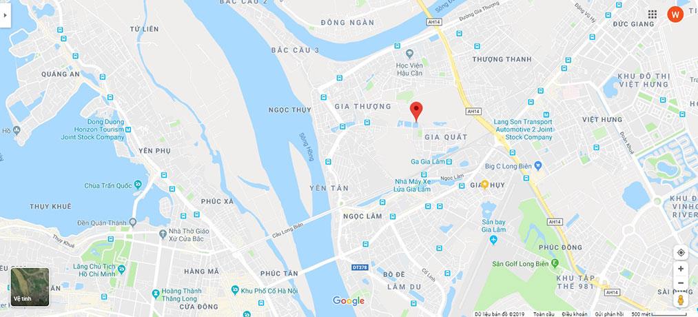 Vị trí chung cư Rice City Thượng Thanh